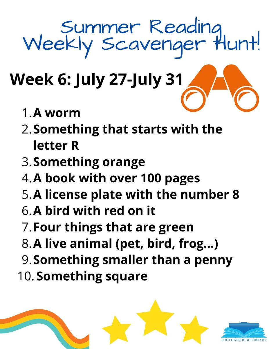 Week 6 Scavenger Hunt